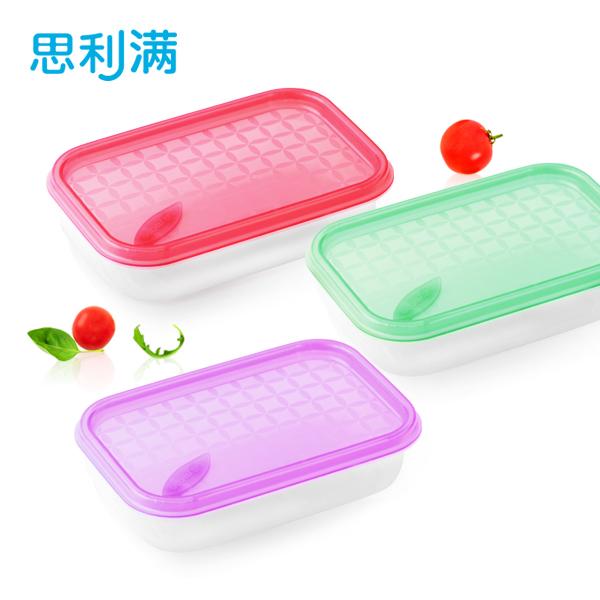 硅胶保鲜盒(长方形)390ml WSK762