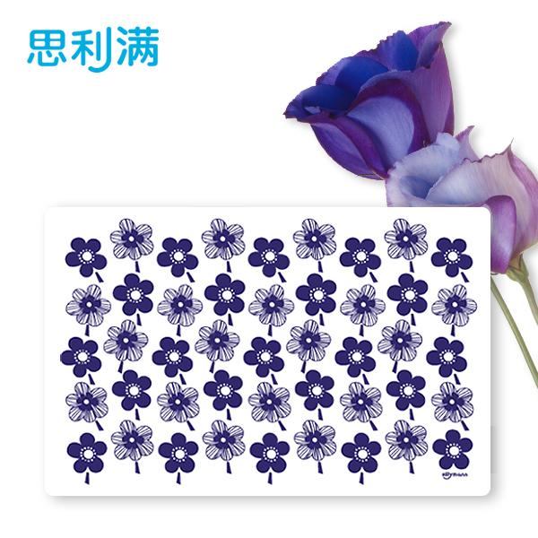 硅胶餐垫(蓝花型) WSK317
