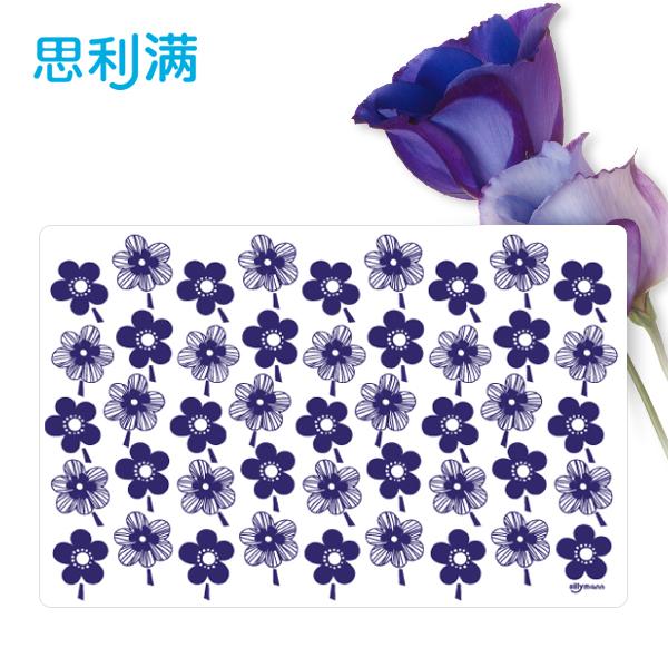 硅胶餐垫(蓝花型)(大)WSK327