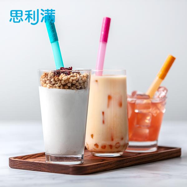 便携式硅胶珍珠奶茶吸管套装 WSB2085