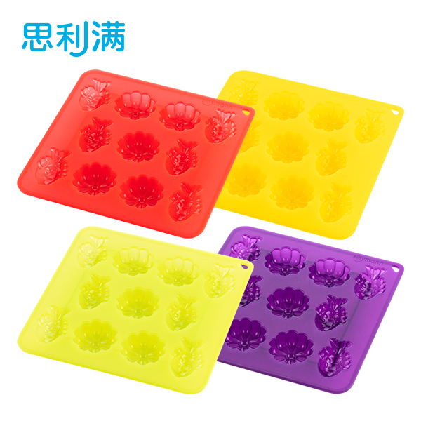 思利满硅胶烘培&制冰模具(金鱼&菊花)